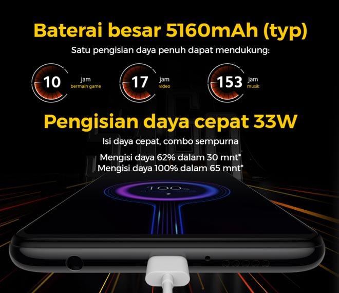 Spesifikasi baterai POCO X3 NFC
