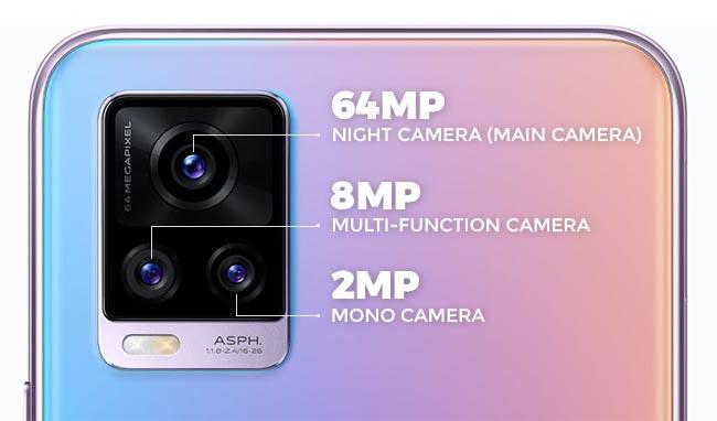 Spesifikasi kamera vivo V20