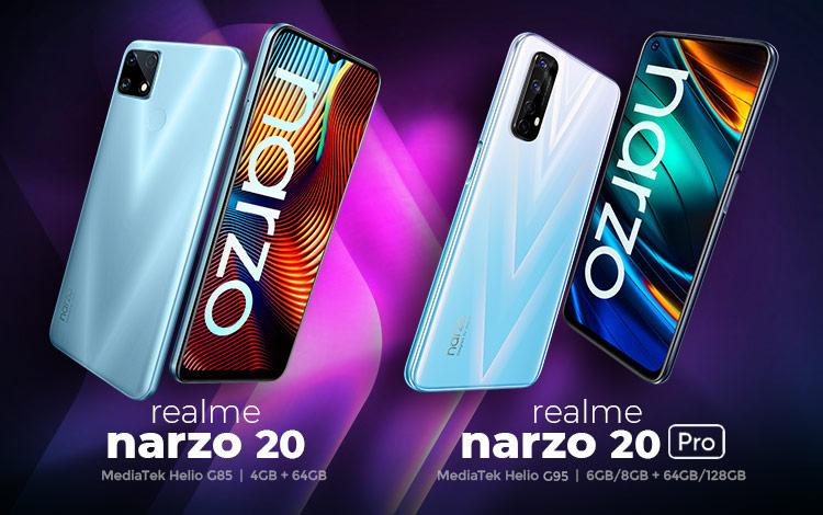 Spesifikasi kekurangan dan kelebihan realme narzo 20 dan narzo 20 pro