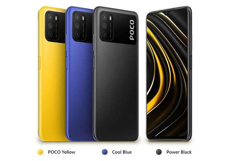 Desain dan pilihan warna Xiaomi Poco M3