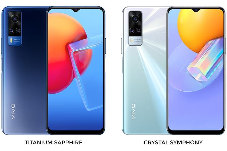 Desain dan pilihan warna vivo Y51