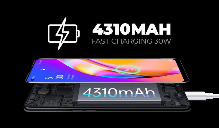 Spesifikasi baterai Oppo Reno5 F