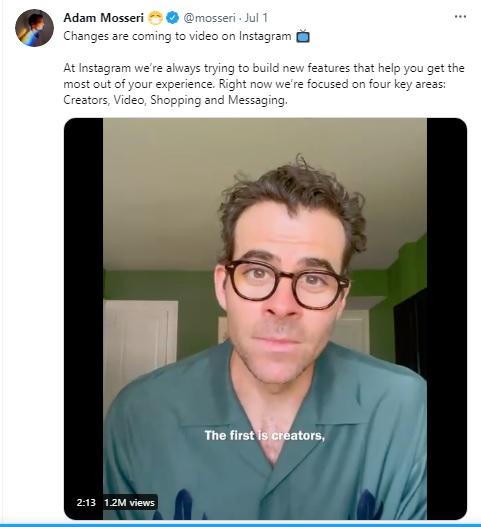 Instagram Akan Lebih Memprioritaskan Video