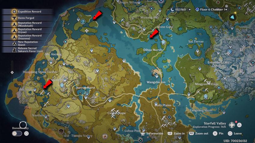 lokasi ikan medaka genshin impact